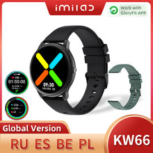 Смарт-часы IMILAB KW66 для мужчин, умные часы с Bluetooth, умные часы с шагомером, фитнес-трекер для измерения сердечного ритма IP68, водонепроницаемые с...