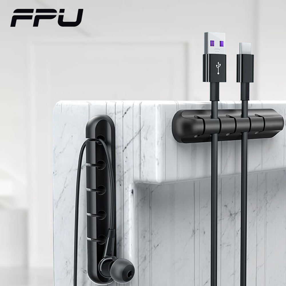 FPU Cable Organizer Silicone USB Cable Management Flexible Cable Winder Clips Cord Wire Tidy Holder For Mouse Headphone Earphone