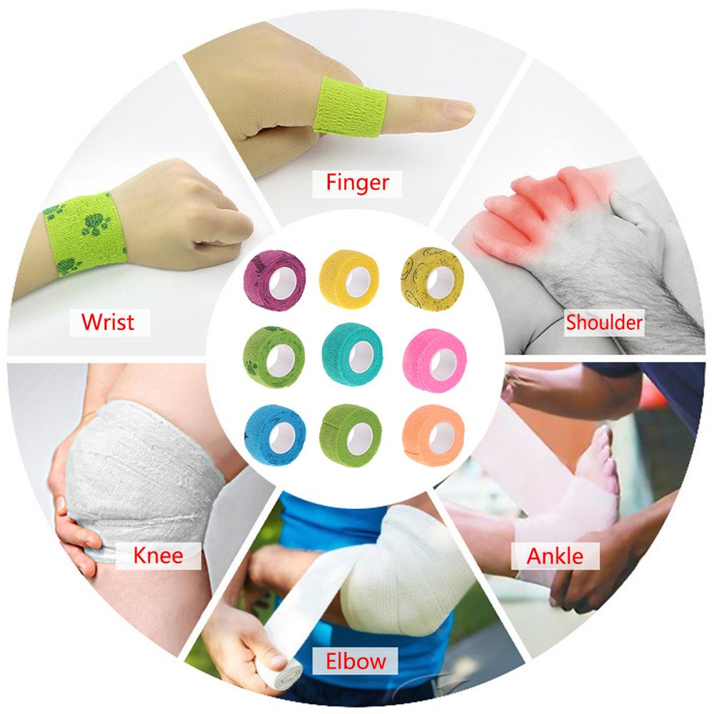 First Aid Medical Health Care Treatment Self-Adhesive Elastic Bandage Gauze Tape