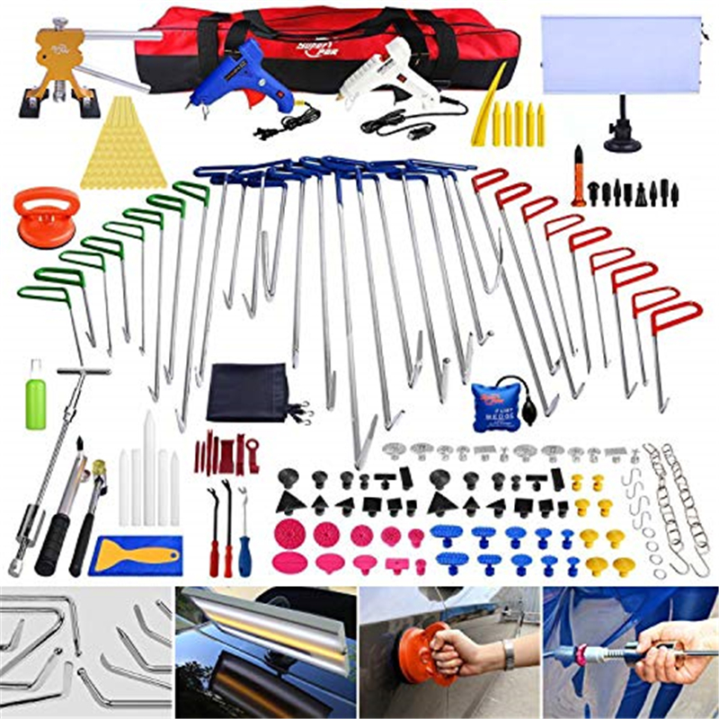 PDR Remover Ding Kit Damage Dent With Body Tools Crowbar Repair Puller Cup Suction PDR Hooks Dent Super Car 200pcs Professional
