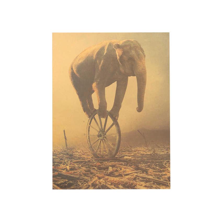 الفيل ديكور المنزل ملصقات جدار خمر ورقة كرافت ورقة المشارك السقوط السيرك 36X48 سنتيمتر