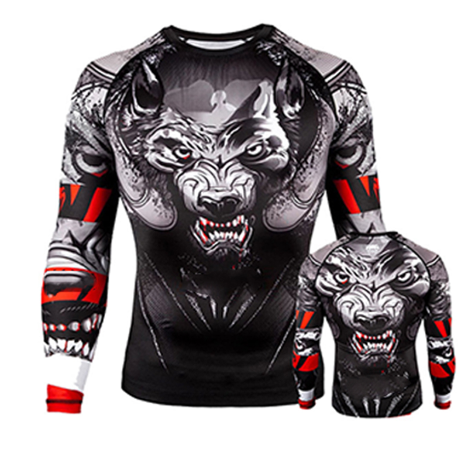 MMA Clothing Rashgaurd Jiu Jusit T-shirt Venomous Snake Boxing Jerseys Muay Thai Bjj T-shirts MMA Rash Guard Fitness Fights Tee
