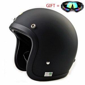 Image 2 - Glass Fiber Vintage Motorcycle Helmet TT&CO 500TX Retro Scooter Jet Open Face Small Shell TTCO Motorbike Riding Capacete Moto