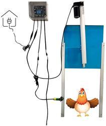 Kit d'ouvre-porte automatique de poulailler-porte automatique électrique de garde de poulet pour des Cages de Coops-avec la minuterie imperméable extérieure
