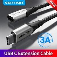 VENTION-Cable de extensión USB tipo C macho a hembra, Cable de extensión Thunderbolt 3 4K para MacBook tipo C 3,1