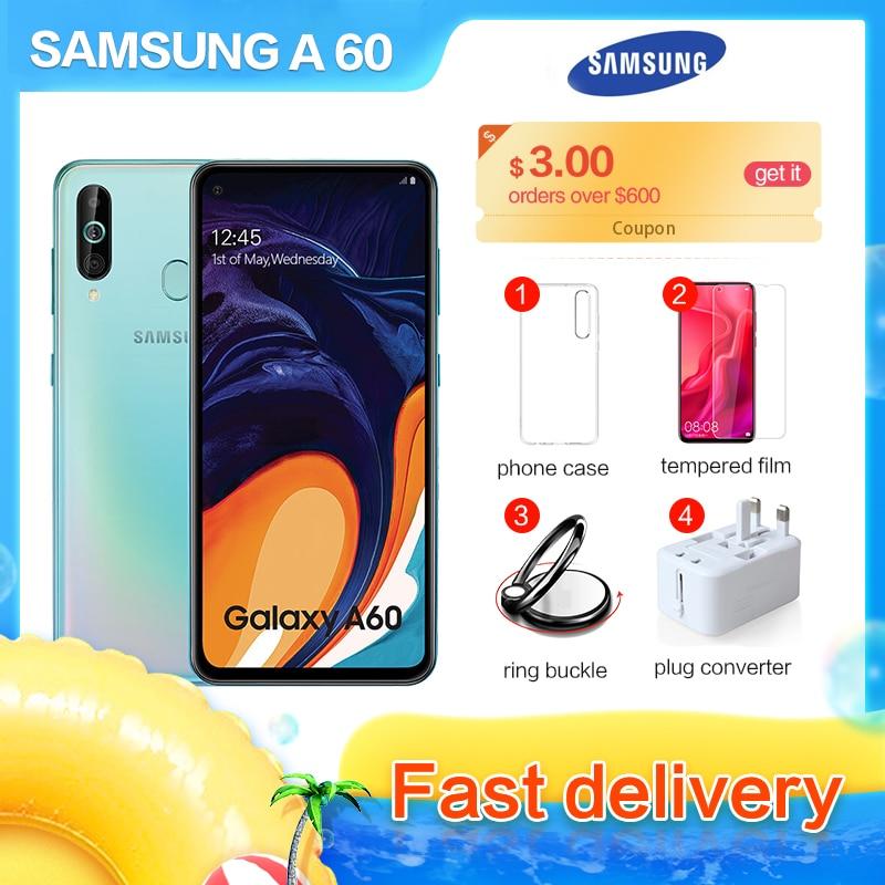 Samsung Galaxy A60 SM-A6060 6.3 plein écran 2340*1080 Android 9.0 Octa Core Support NFC 32MP + 8MP + 5MP 3500mAh visage + identification d'empreintes digitales