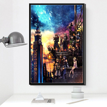 5D DIY Diamond Painting KingdomHearts Poster Hot Video Gam Anime Cross Stitch Kit Mosaic Diamond Embroidery Full Drill Home Deco image