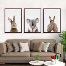 Скандинавский милый кролик фотообои с животными настенные картины
