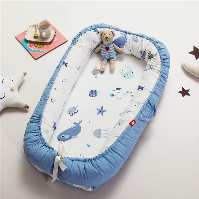 Washable Baby Nest Bed Travel Crib Cots for Newborns Sleep Nest Infant Cradle Baby Bassinet Bumper Crib