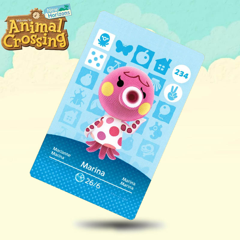 234 Marina Animal Crossing Card Amiibo Cards Work For Switch NS 3DS Games