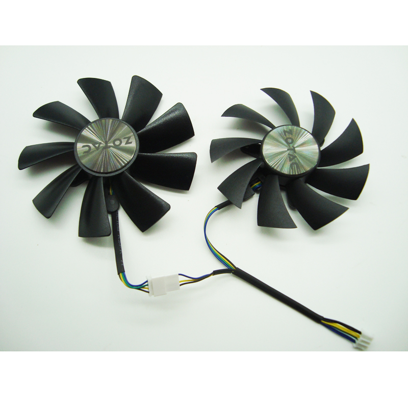 87MM GA92S2H 100MM GAA8S2H GAA8S2U 4Pin Cooler Fan For ZOTAC <font><b>GTX</b></font> <font><b>1060</b></font> 1070 Ti <font><b>MINI</b></font> HA 1080 Ti <font><b>MINI</b></font> Dual Graphic Card Cooling Fan image