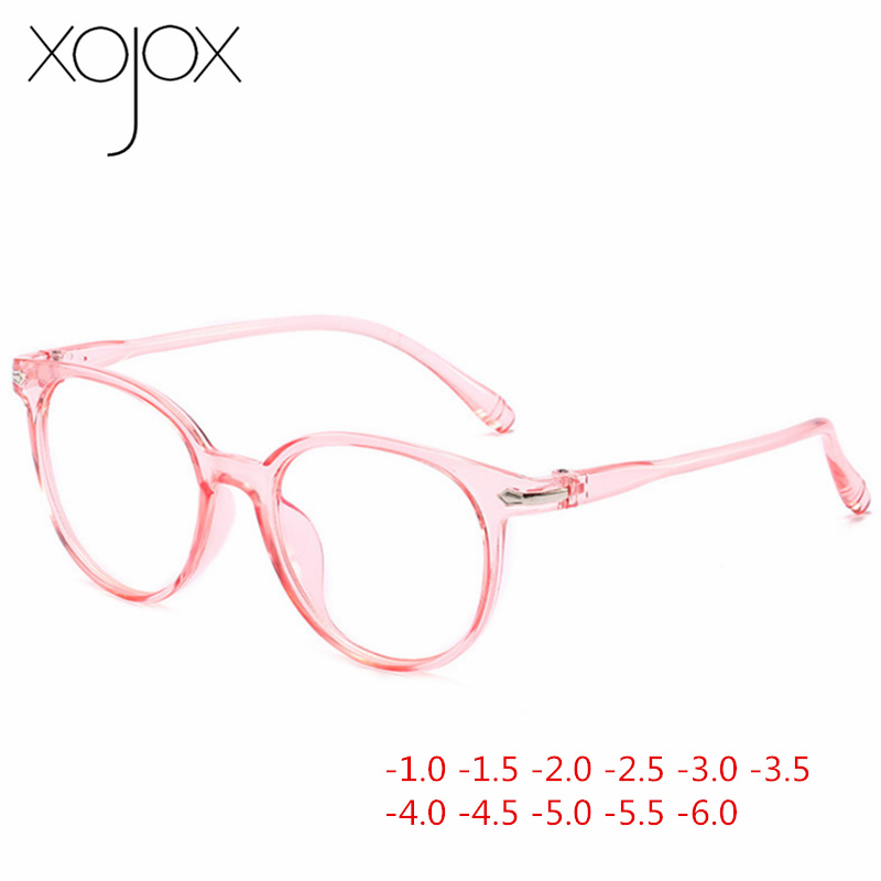 XojoX -1 -1.5 -2 -2.5 -3 -3.5 -4 -4.5 -5 -5.5 -6 Finished Myopia Glasses Women Men Retro Full Frame Students Short-sight Eyewear