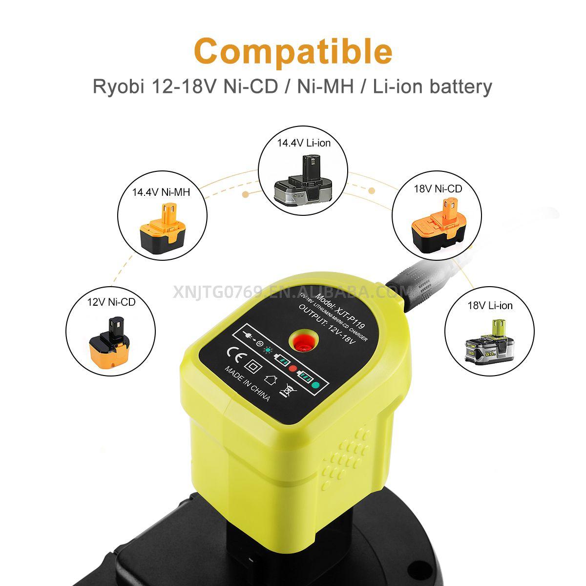 li ion carregador fabricante carregador de bateria rapida para bateria ryobi 05