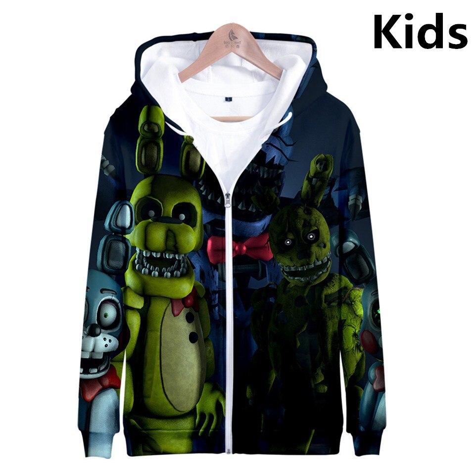 3 To 13 Years Kids Hoodie Five Nights At Freddy's FNAF Hoodies Sweatshirt Boys Girls Harajuku Jacket Coat Children Clothes
