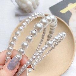 [Xwen] 2020 New Women Simple Pearls Headband All-match Hair Bundle Girls Hair Band Fashion Accessories OH168804