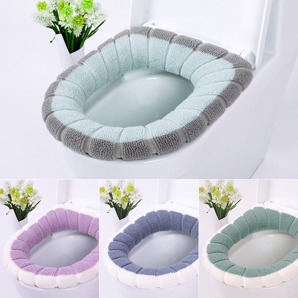 Various Types Comfortable Soft Dust Cover Lace Cloth Closestool Toilet Seat Mat