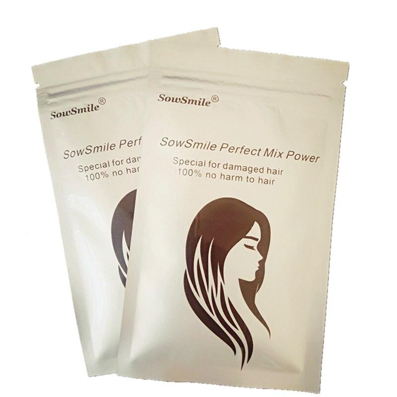 SowSmile 100% Keratin Collagen Silk Natural Moisturizing Repair Hair Scalp Care Vitamins Treatment Perfect Mix Serum Powder 6