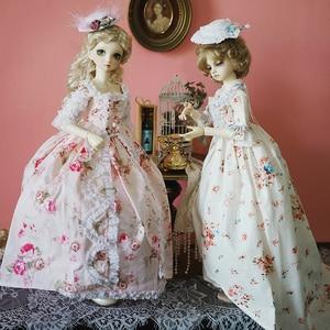 Image 5 - Bjd Roze Jurk Pop Lange Jurk + Hoed + Jurk Ondersteuning + Sokken Voor 1/6 1/4 1/3 Bjd Giant Baby pop Accessoires Een Pak Bjd Kleding