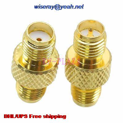 DHL/EMS 500pcs Adapter SMA Female To RPSMA Female Straight  RF COAXIAL With One Year Warranty -a4