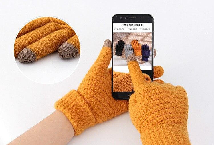 Women Gloves Winter Touch Screen Handschoenen Black Gloves Guantes Mujer 2019 Promotion Hiver Femme Rekawiczki Gant Luva Eldiven 3