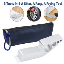 1Pc 3 in 1 Multifunctional Lifter Prying Tool Rasp Aluminum