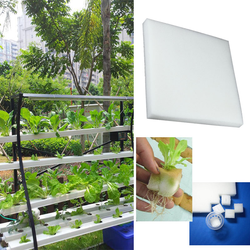 100pcs Polyurethane Sponge Seedling Sponge Cultivation Planting Sponge White Artificial Breeding Agriculture Hydroponics