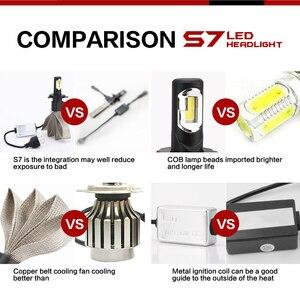Image 5 - Roadsun S7 سيارة المصابيح الأمامية LED H4 H7 9005 H11 H8 H9 HB1 HB3 9006 9007 880 12V 55W 6000K 12000LM/زوج مصباح السيارات لمبة إضاءة
