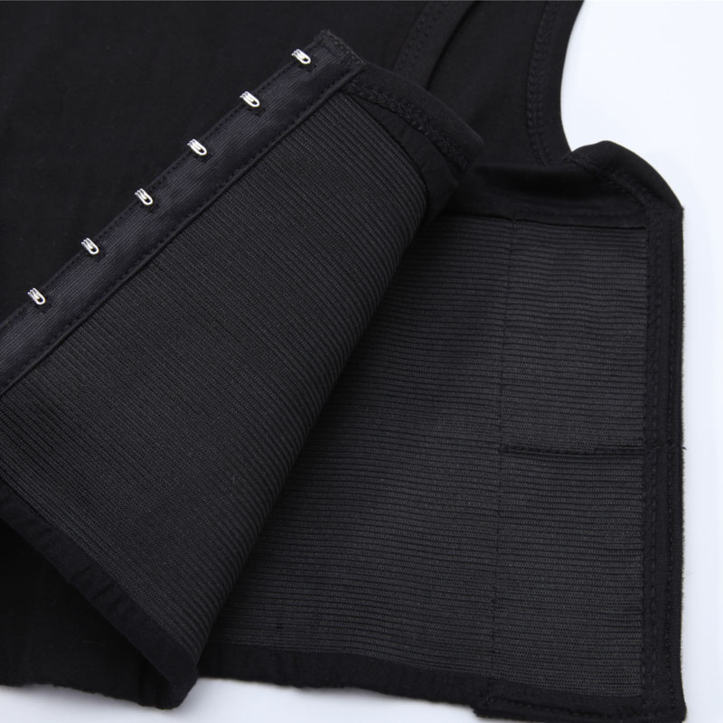Chest Binder Women Breast Binders 3 Rows Flat Front Hook Vest Casual Compression Shapers Lesbian Body Shaper Corset S-6XL