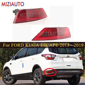 Led Rear Bumper Reflector Light For FORD KUGA ESCAPE 2013 - 2019 Tail Stop Fog Light Rear brake Turn signal lamp Car Accessories led rear tail lights for ford transit 2014 tail stop brake lights european version car accessories rear turn signal fog lamp