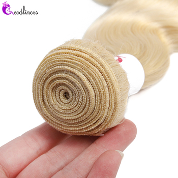 Goodliness 1/3/4pcs 613 Body Wave Bundles Brazilian Hair Weave Bundles Remy Three Tone 1b/4/27 1b/4/30 Ombre Human Hair Bundles 6
