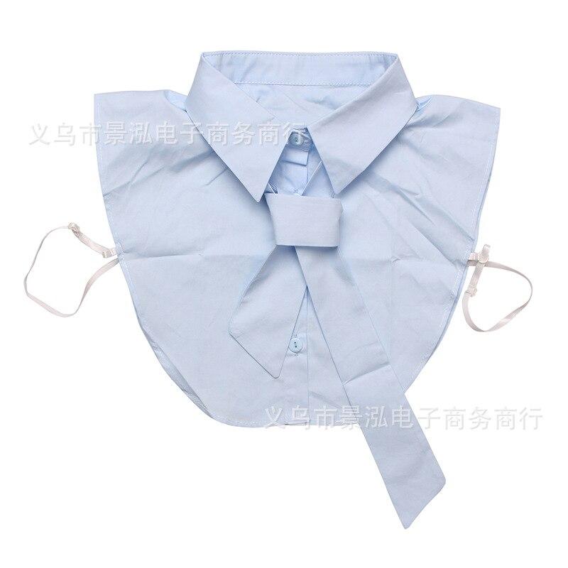 Monochrome Net Surface Pure Cotton Versatile Fake Collar All Seasons Temperment Shirt Collar Colar