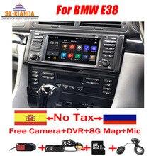 Android 10 samochodowy odtwarzacz DVD odtwarzacz dla BMW E38 Wifi 3G Radio GPS Bluetooth RDS sterowanie kierownicą USB lustro link radio stereo bez DVD
