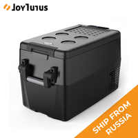 32L Car Fridge Auto Compressor Freezer 45w 12V 220V For Car RV Vehicle Home Use Picnic Camping Refrigerator Car Portable Cooler