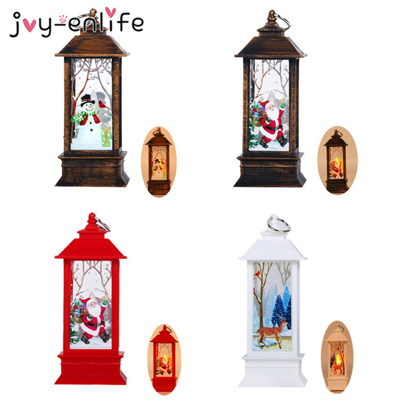 Santa Claus Snowman Light LED Candle Merry Christmas Decorations For Home Xmas Ornaments Tree Navidad Noel Gift New Year 2020