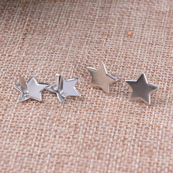 High quality 20Pcs Sliver Star Shape Metal Brads Decoration Embellishments Scrapbooking Brads image