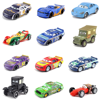 Disney Pixar Cars 2 3 Lightning McQueen Mater Jackson Storm Ramirez 1:55 Diecast Vehicle Metal No.28 No.54 Toys Car Boys Gifts image