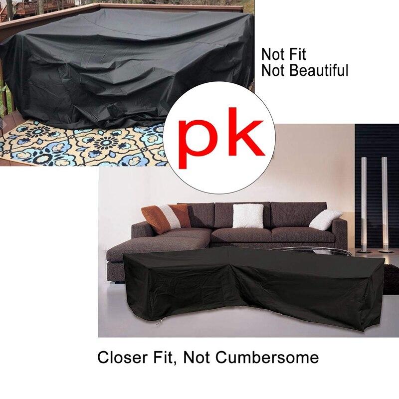 pátio sofá mobiliário sofá capa com impermeável