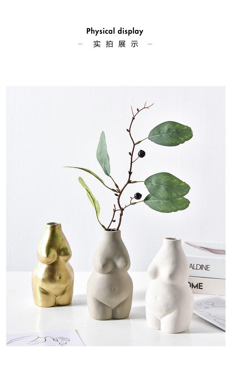 corpo feminino arte vaso ornamento
