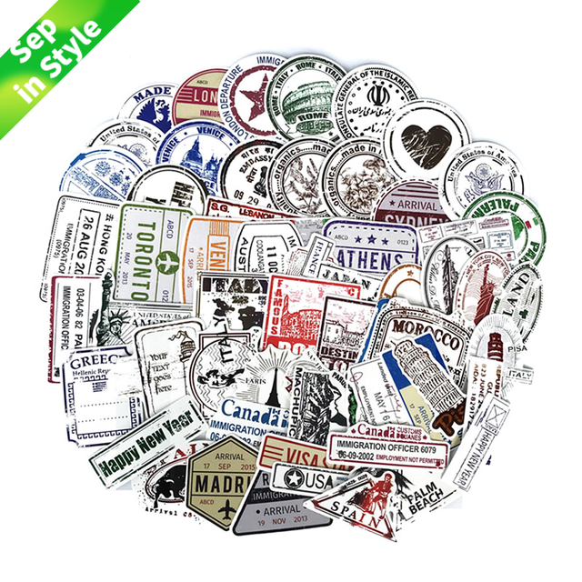 Us 2 92 31 Off 60pcs Lot Retro Traveling Boarding Pass Air Tickets Creative Suitcase Stickers For Laptop Luggage Bags Bike Phone Cool Sticker In