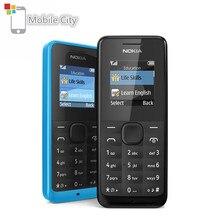 NOKIA-teléfono móvil usado 105, dispositivo con tarjetas Sim individuales y duales, 2G, GSM, Radio FM, desbloqueado