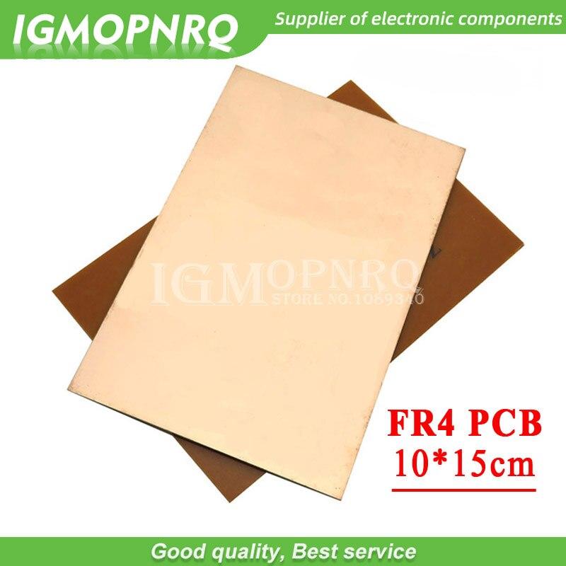 1 шт. FR4 PCB 10x15 см 10 см x 15 см 10*15 односторонняя медная плакированная пластина, набор для DIY печатных плат, ламинат, печатная плата