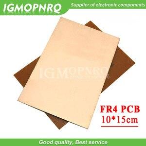 1 pwb fr4 10x15cm 10x15cm 10*15 único lado placa folheada de cobre kit pcb diy placa de circuito laminado