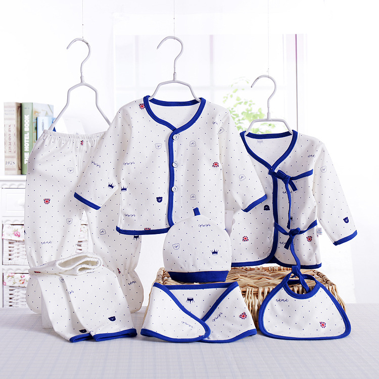 2019 New Style Infant Pure Cotton Warm Gift Set CHILDREN'S Underwear Seven Sets Newborns Clothes