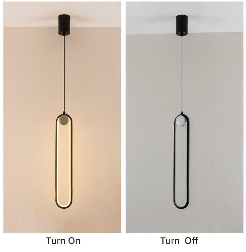 pingente lâmpada 45cm minimalista 12w led pendurado