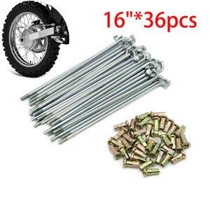 36pcs 16 inch Motorcycle Rear Stainless Steel Rim Wheel Spokes Kit Set For Yamaha RT100 90-2000 DT100 77-83 MX100 79-83 /TTR125L