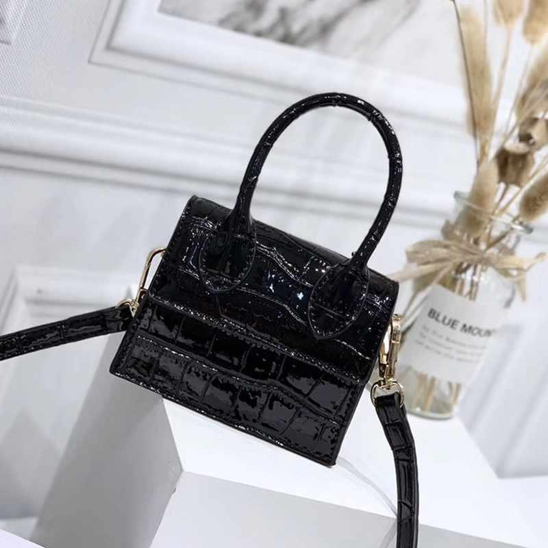 Kleine Tas Herfst En Winter 2020 Nieuwe Vrouwen Gepersonaliseerde Mini Messenger Bag Krokodil Mode Enkele Schoudertas Modellering