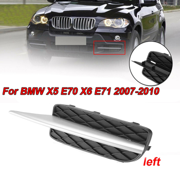Black + Silver 1:1 original car mold Front Bumper Grille Cover With Molding For BMW X5 E70 2007-2010 Accessory image