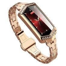Reloj inteligente B78 IP67 para mujer, pulsera deportiva resistente al agua, con control del ritmo cardíaco y de la presión sanguínea