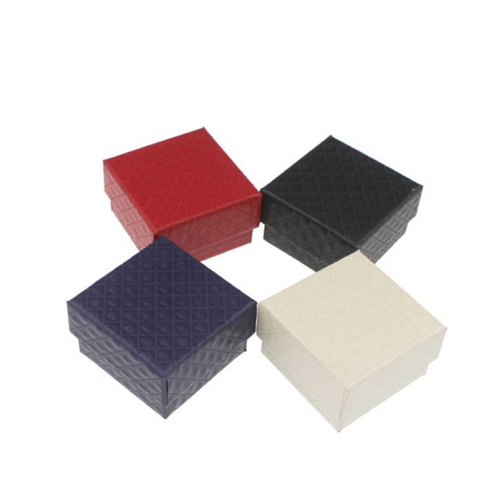 2019 moda Colar Anel Brinco Pulseira Data Do Casamento Caixa de Presente Da Jóia Caixa De Embalagem Saco de Papel Fino 5*5*3cm