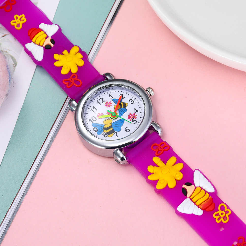 2020 Tahun Baru Hadiah Bayi Kartun Lebah Anak-anak Watch Hadiah Jam Tangan Anak untuk Anak Perempuan Anak Laki-laki Jam Fashion Anak Jam Tangan relogio
